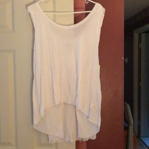 Free people top shirt white large NWT